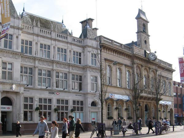 An image of Loughborough town centre.