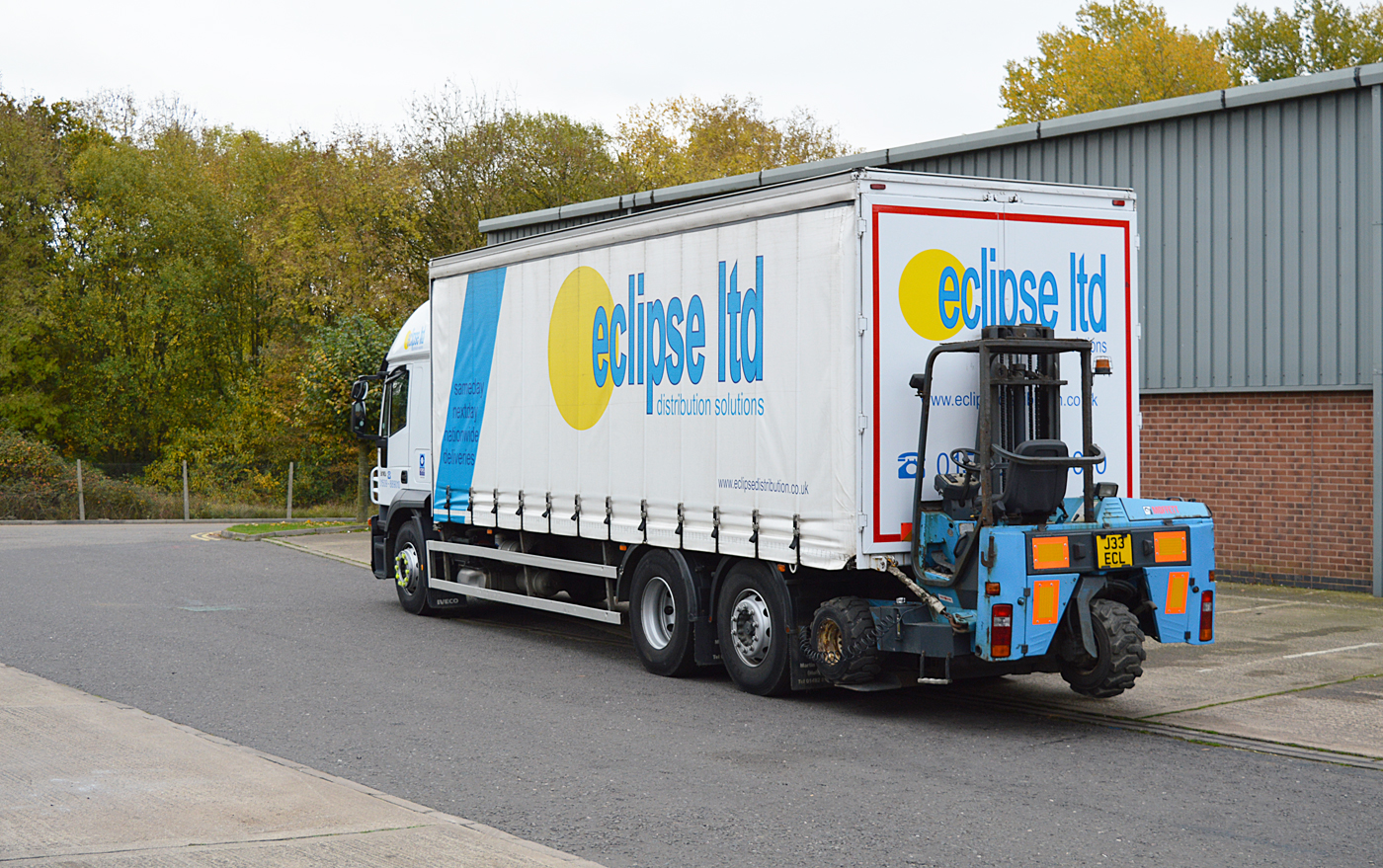 An image showing a fully livered haulage lorry used by Eclipse Distribution Solutions Ltd.