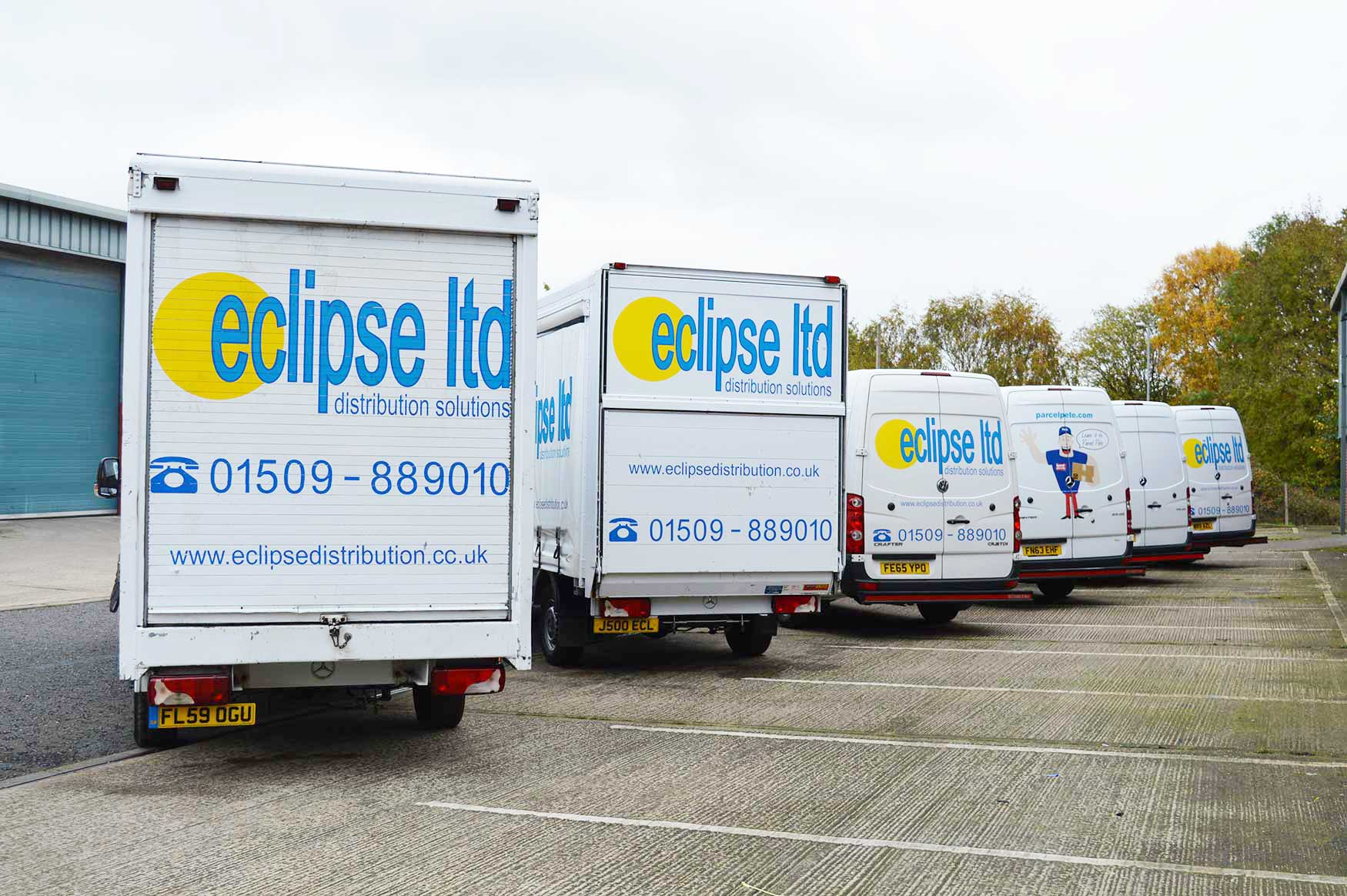 An image showing a rear view of the Eclipse Distribution Solutions Ltd fleet.