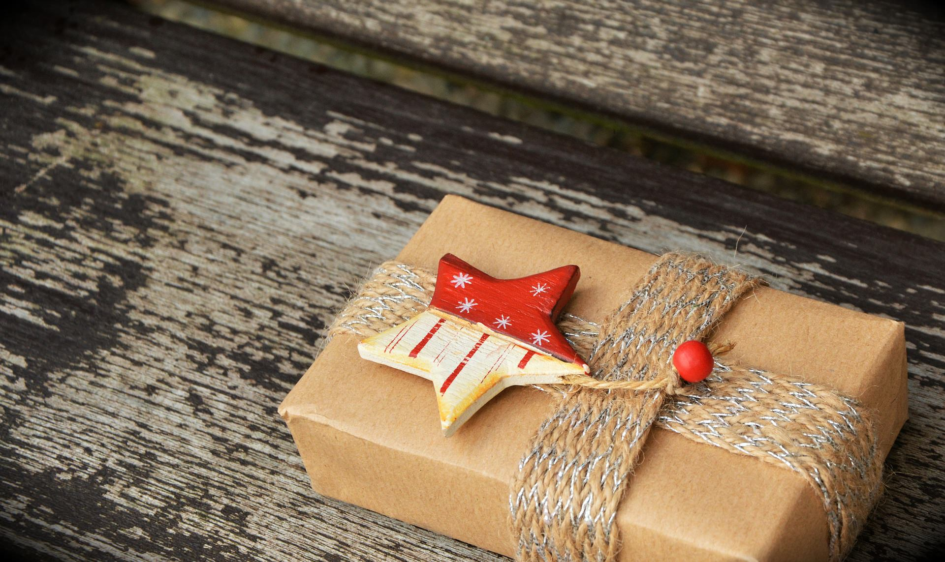 An image of Christmas parcel that will be sent abroad.