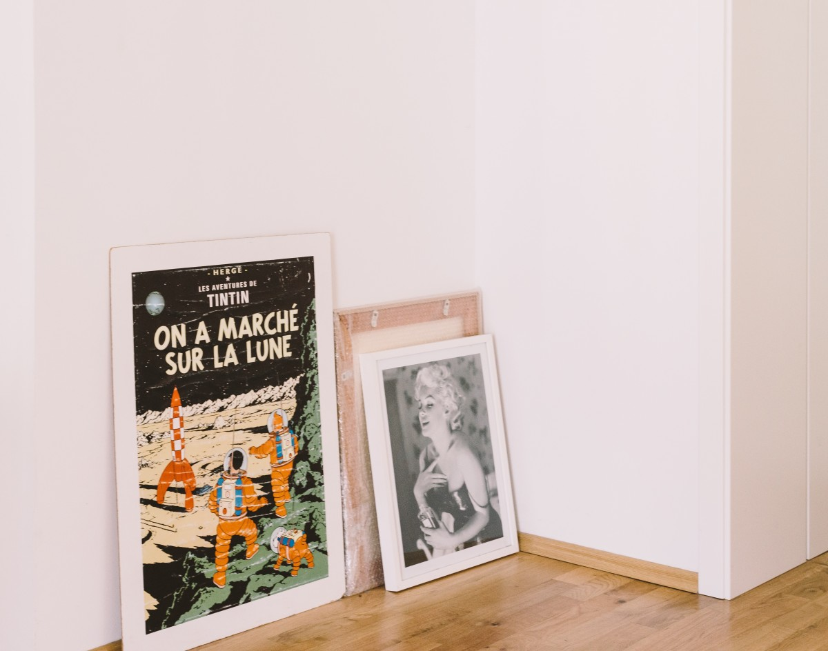 An image of famous posters that have been shipped through the post.