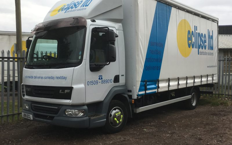 An image of an Eclipse Distribution Solutions Ltd lorry that has been parked in at the Eclipse Distribution Solutions depot.